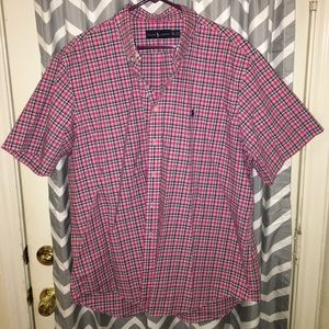 Pink&Black Polo by Ralph Lauren ButtonUp Shirt XXL